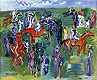 Aux Courses | Raoul Dufy (inspired by)