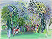 Horses and Jockeys under the Trees | Raoul Dufy (inspired by)