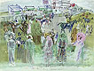 Elegant People at Epsom | Raoul Dufy (inspired by)