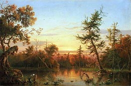 View, Dismal Swamp, North Carolina, 1850 von Regis-Francois Gignoux | Gemälde-Reproduktion