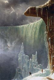 Niagara, The Table Rock - Winter, c.1847 von Regis-Francois Gignoux | Gemälde-Reproduktion