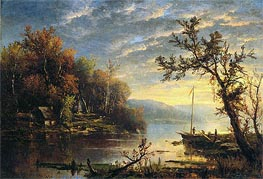 Autumn on the Hudson, 1858 von Regis-Francois Gignoux | Gemälde-Reproduktion