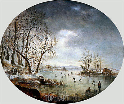 Winter Scene in New Jersey, 1847 | Regis-Francois Gignoux | Painting Reproduction