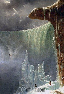 Niagara, The Table Rock - Winter, c.1847 | Regis-Francois Gignoux | Gemälde Reproduktion