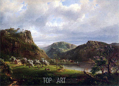 American Landscape (Majesty of the Mountains), undated | Regis-Francois Gignoux | Painting Reproduction