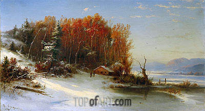 Regis-Francois Gignoux | First Snow Along the Hudson, 1859