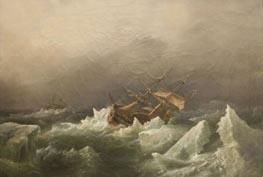 Antarktischen Expedition: Sturm in der Packung, 1842 von Richard Brydges Beechey | Gemälde-Reproduktion