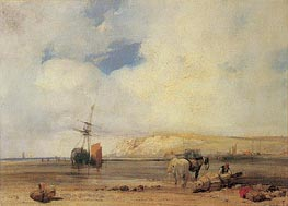 On the Coast of Picardy, 1826 by Richard Parkes Bonington | Painting Reproduction