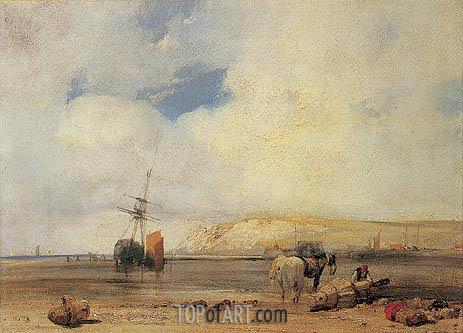 Richard Parkes Bonington | On the Coast of Picardy, 1826