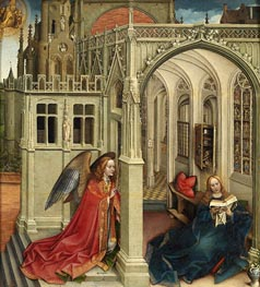 The Annunciation, c.1420/25 by Robert Campin | Painting Reproduction