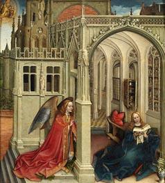 Die Verkündigungs, c.1420/25 von Robert Campin | Gemälde-Reproduktion