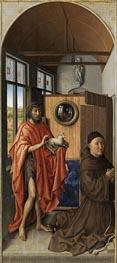 Heinrich von Werl und sein Patron Johannes dem Täufer, 1438 von Robert Campin | Gemälde-Reproduktion