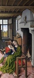 Die Heilige Barbara, 1438 von Robert Campin | Gemälde-Reproduktion
