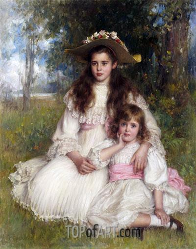 Robert Edward Morrison | Portrait of Joyce and Monica Shaw, 1905