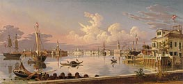 View of Venice, 1845 von Robert Salmon | Gemälde-Reproduktion