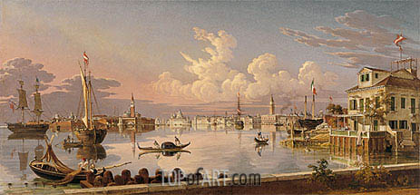 View of Venice, 1845 | Robert Salmon | Gemälde Reproduktion