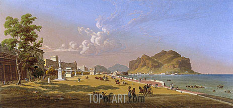 View of Palermo, 1845 | Robert Salmon | Painting Reproduction