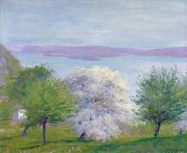 Apple Bloom, 1903 by Robert Vonnoh | Painting Reproduction