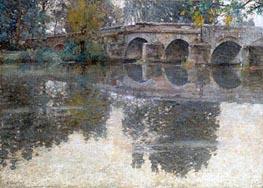 The Bridge at Grez, c.1907/11 von Robert Vonnoh | Gemälde-Reproduktion