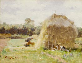 La Sieste (The Rest), 1887 by Robert Vonnoh | Painting Reproduction