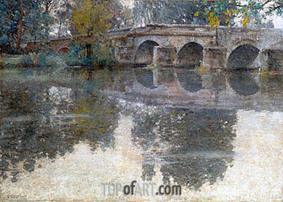 The Bridge at Grez, c.1907/11 | Robert Vonnoh | Gemälde Reproduktion
