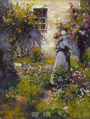 Robert Vonnoh | Jardin de paysanne (Peasant Garden), 1890