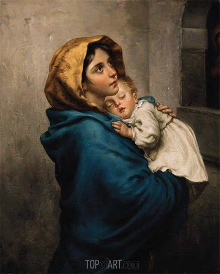 Madonnina (The Madonna of the Streets), 1897 | Roberto Ferruzzi | Painting Reproduction