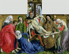 Descent from the Cross, c.1435 von van der Weyden | Gemälde-Reproduktion
