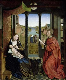 Saint Luke Drawing the Virgin, c.1435/40 by van der Weyden | Painting Reproduction