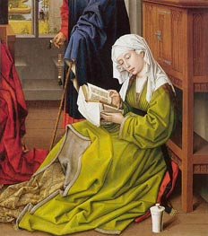 The Magdalen Reading, a.1438 by van der Weyden | Painting Reproduction