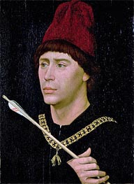 Portrait of Anthony of Burgundy, c.1456 von van der Weyden | Gemälde-Reproduktion