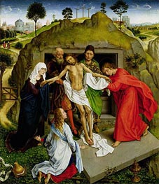 Entombment of Christ, c.1450 by van der Weyden | Painting Reproduction