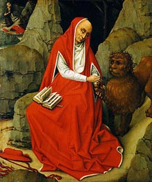Saint Jerome in the Desert, c.1450/65 von van der Weyden | Gemälde-Reproduktion