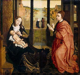 St Luke Drawing the Virgin, undated von van der Weyden | Gemälde-Reproduktion