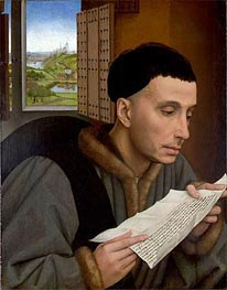 A Man Reading (Saint Ivo) | van der Weyden | outdated
