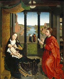 Saint Luke Drawing the Virgin's Portrait, undated by van der Weyden | Painting Reproduction