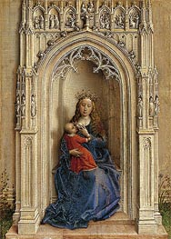Madonna Enthroned, c.1433 by van der Weyden | Painting Reproduction