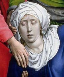 Descent from the Cross (detail) | van der Weyden | Painting Reproduction