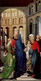 The Presentation in the Temple, c.1455 by van der Weyden | Painting Reproduction