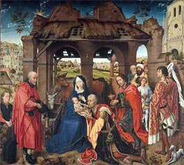 Columba Altarpiece, c.1455 by van der Weyden | Painting Reproduction
