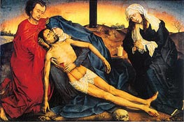 Pieta (Lamentation of Christ), c.1450 by van der Weyden | Painting Reproduction
