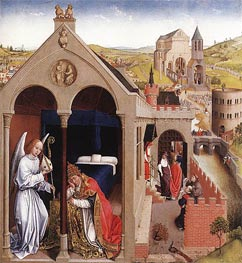 Dream of Pope Sergius, c.1437/40 by van der Weyden | Painting Reproduction