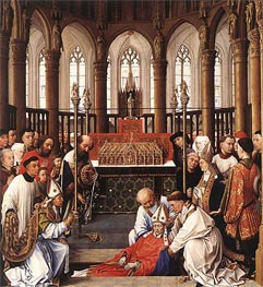 The Exhumation of Saint Hubert, c.1430/40 by van der Weyden | Painting Reproduction