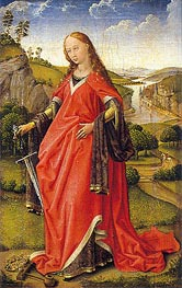 Saint Catherine of Alexandria, c.1440 by van der Weyden | Painting Reproduction
