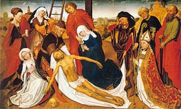 Lamentation, c.1460/80 by van der Weyden | Painting Reproduction