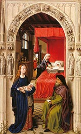 Naming of John the Baptist (Saint John Altarpiece), c.1455/60 by van der Weyden | Painting Reproduction