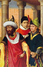 Group of Men, a.1460 by van der Weyden | Painting Reproduction