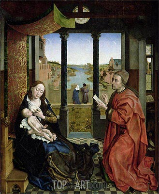 Saint Luke Drawing the Virgin, c.1435/40 | van der Weyden| Painting Reproduction