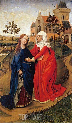 van der Weyden | Visitation of Mary, c.1440/45