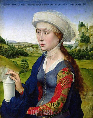 St. Mary Magdalene, c.1450 | van der Weyden| Painting Reproduction